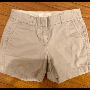 J. Crew Broken-In Chino Shorts size 0